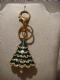 Bag charm/keyring Christmas tree  Diamante/enamel